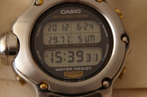 Restauración Casio DEP600 depth meter